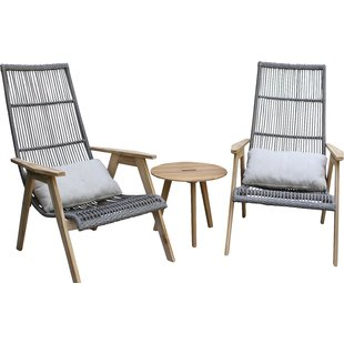 outdoor lounge chairs largent teak patio chair with cushions (set of 2) XSEBBWV