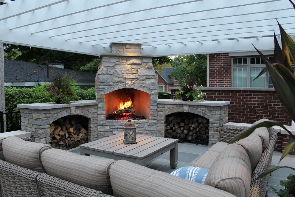 outdoor patio fireplace designs for backyard ZNNJUCO