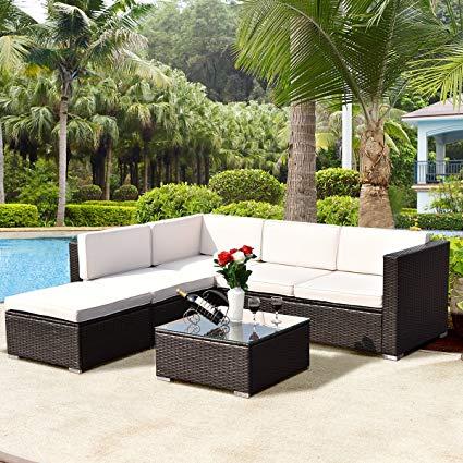 outdoor patio furniture sets tangkula 4 piece outdoor patio furniture set garden poolside lawn backyard VTLRAWU