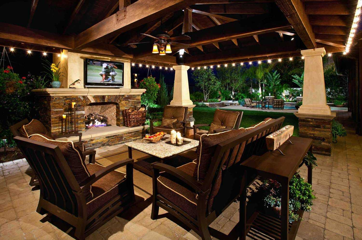 outdoor patio ideas with fireplace and tv 2018 incredible fabulous intended JDOKGTE