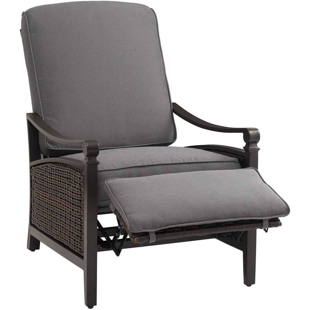 outdoor recliner la-z boy carson chestnut and espresso all-weather wicker outdoor reclining  patio AUUMOJK