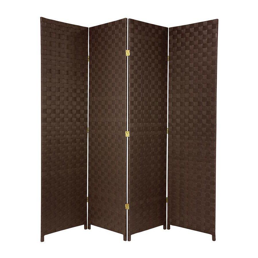 outdoor screens oriental furniture 70-in w x 71-in h dark brown vinyl/polyresin BDXWZYN
