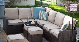 outdoor sectional sofa belham living monticello all-weather outdoor wicker sofa sectional set |  hayneedle WLZDFXO