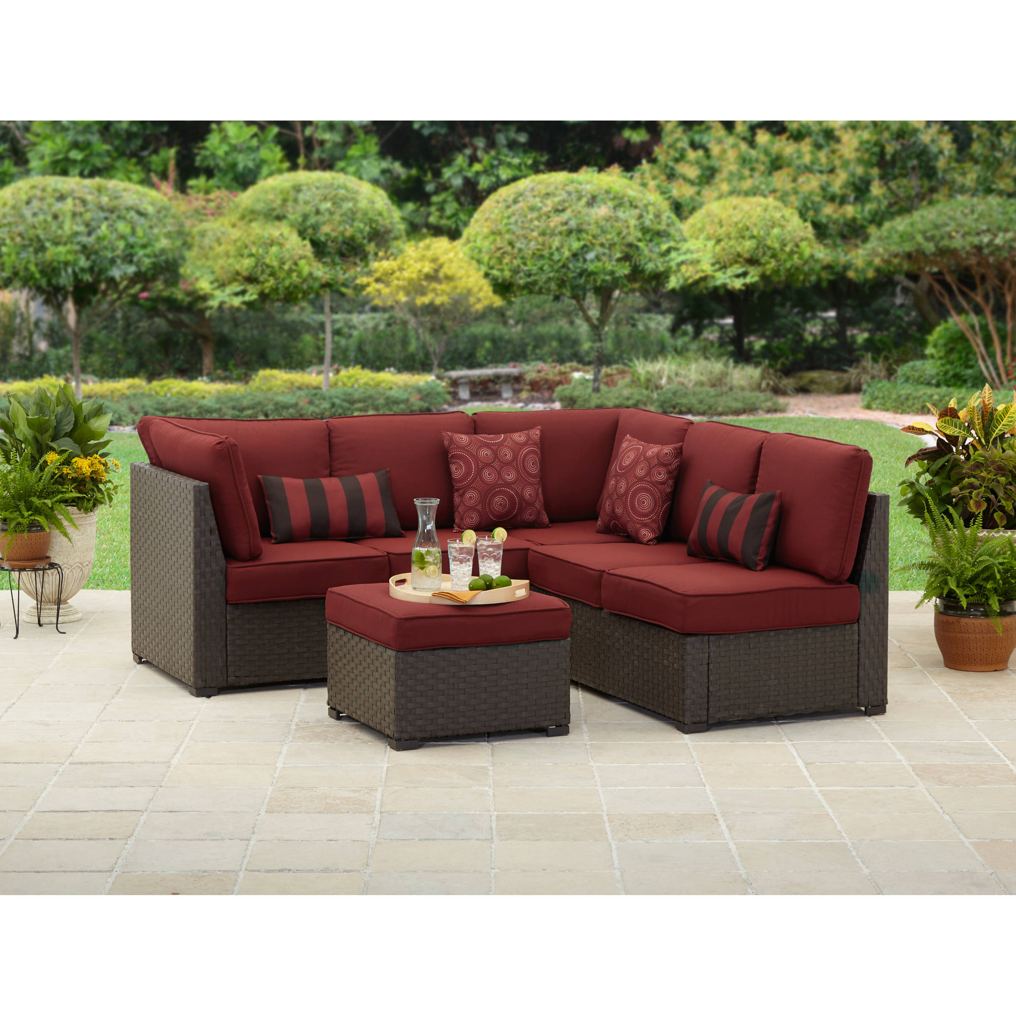 outdoor sectional sofa better homes and gardens rush valley 3-piece outdoor sectional - walmart.com KNNDJHP