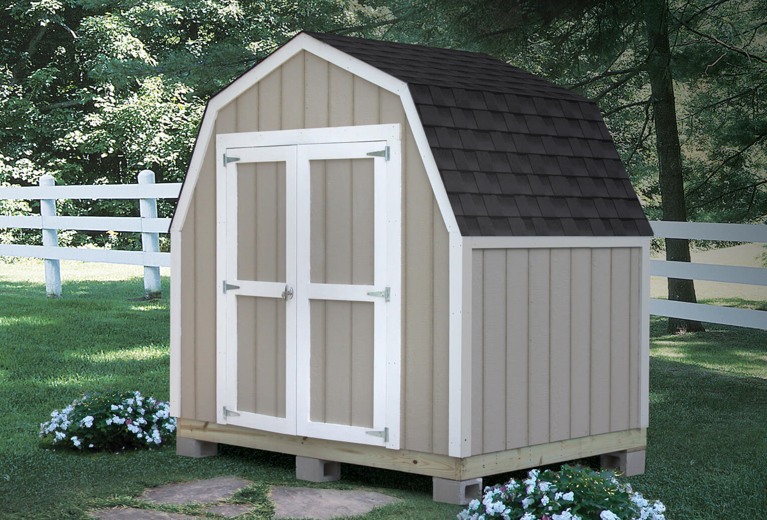 outdoor shed delivered. built. guaranteed. WKANTBY