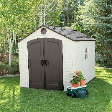 outdoor shed lifetime 8u0027 x 10u0027 outdoor storage shed OVRFMKB