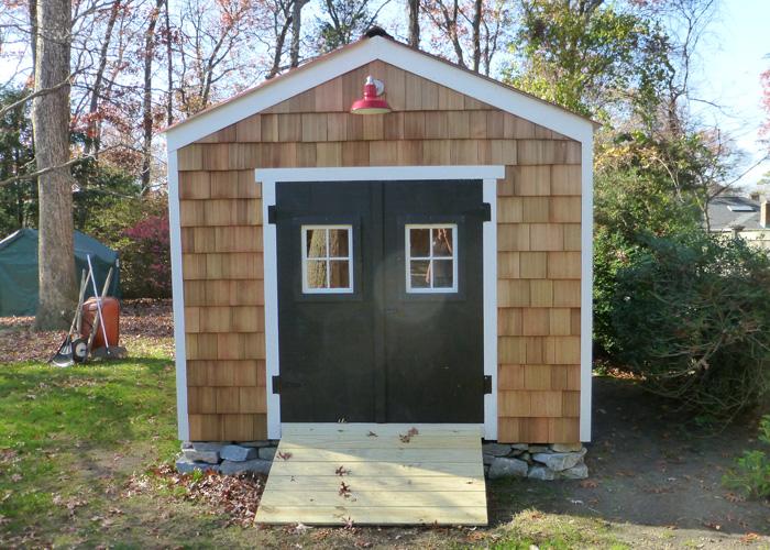 outdoor sheds ... 10x14 new yorker option b - custom exterior ... UFAMUNX