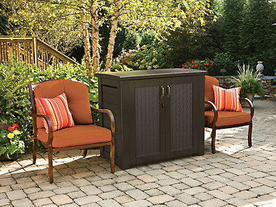 outdoor sheds u0026 storage - deck boxes u0026 patio storage.  1t00_patio_cabinet_blkoak_main_angled-xlarge. MGORPBI