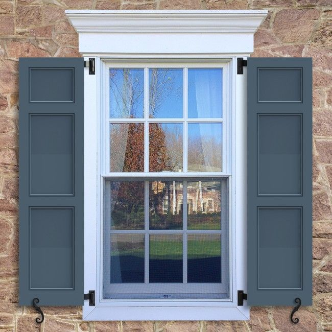 outdoor shutters flat panel shutters with bead trim, featuring a 20/40/40 split  configuration. IZIMMXI