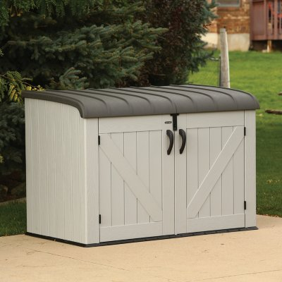 outdoor storage lifetime horizontal storage box, gray ITPNEER