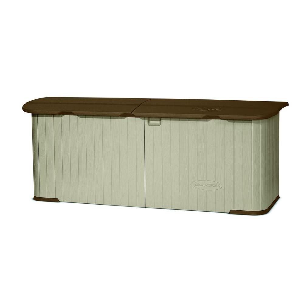 outdoor storage suncast multi-purpose 3 ft. x 7 ft. 4 in. resin split KSSGYWC
