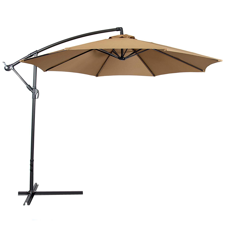 outdoor umbrella amazon.com : best choice products patio umbrella offset 10u0027 hanging umbrella AJITXYK