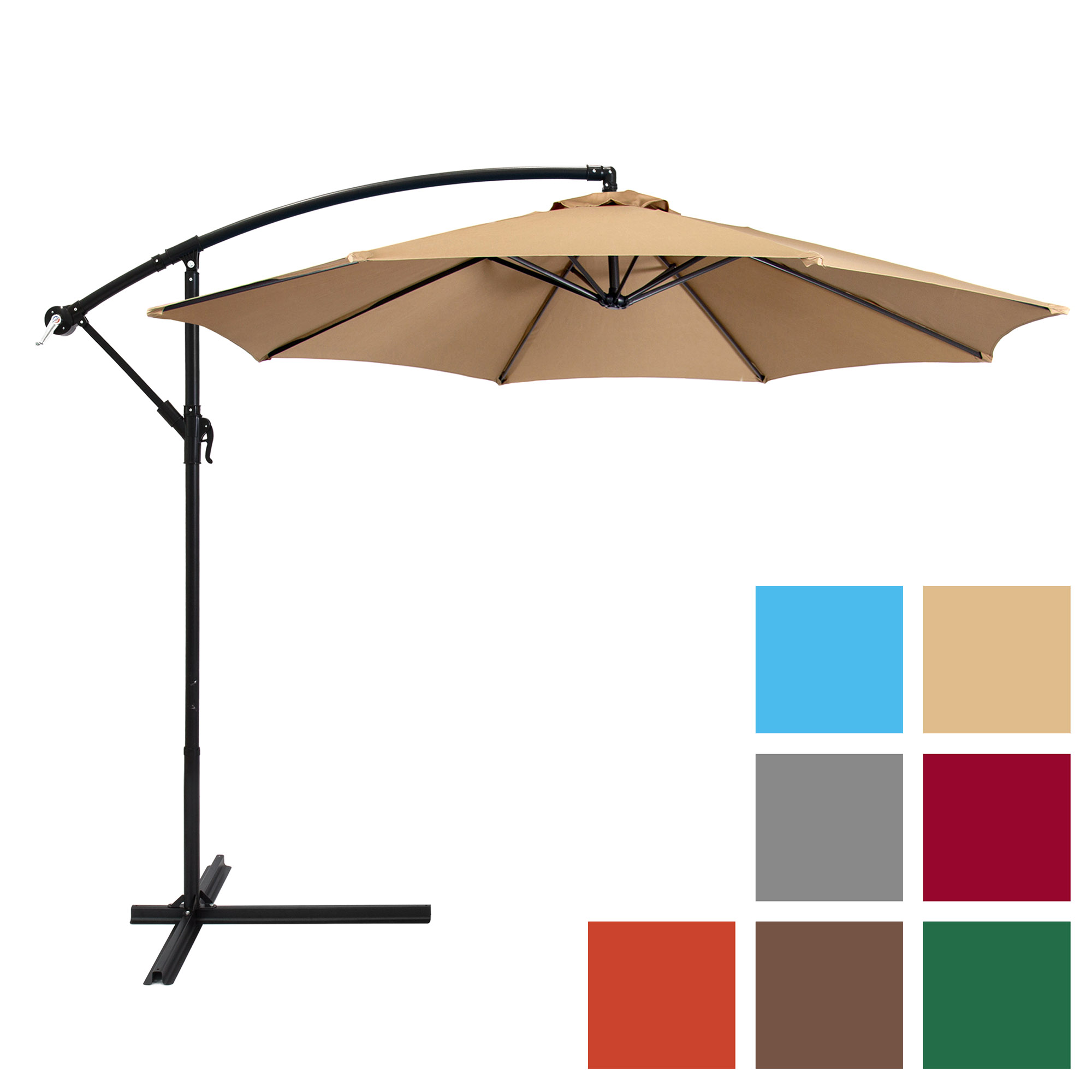 outdoor umbrella best choice products 10ft offset hanging outdoor market patio umbrella - PFCKMEW