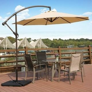 outdoor umbrella weller 10 ft offset cantilever hanging