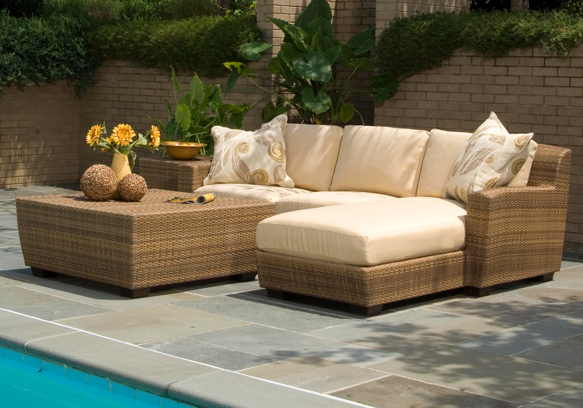 outdoor wicker furniture in a variety of styles from patio productions SNUBXVT