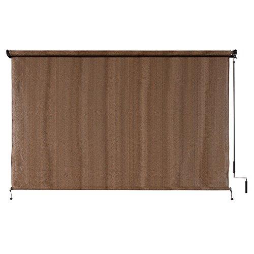 outdoor window shades amazon.com : coolaroo outdoor cordless roller shade 6ft x 6ft mocha : DBXETPI
