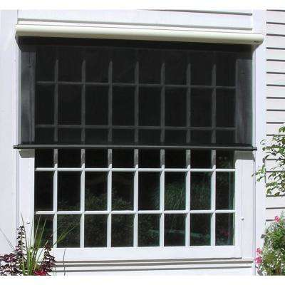 outdoor window shades charcoal vinyl exterior solar shade ... DWUELSG