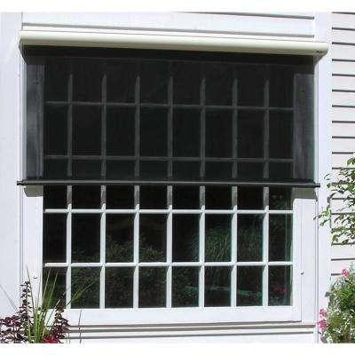 outdoor window shades charcoal vinyl exterior solar shade ... DWUELSG