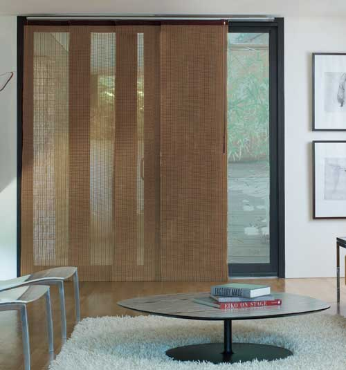 panel track blinds levolor® panel track blind: woven woods: citiscape spice WYNAIWS
