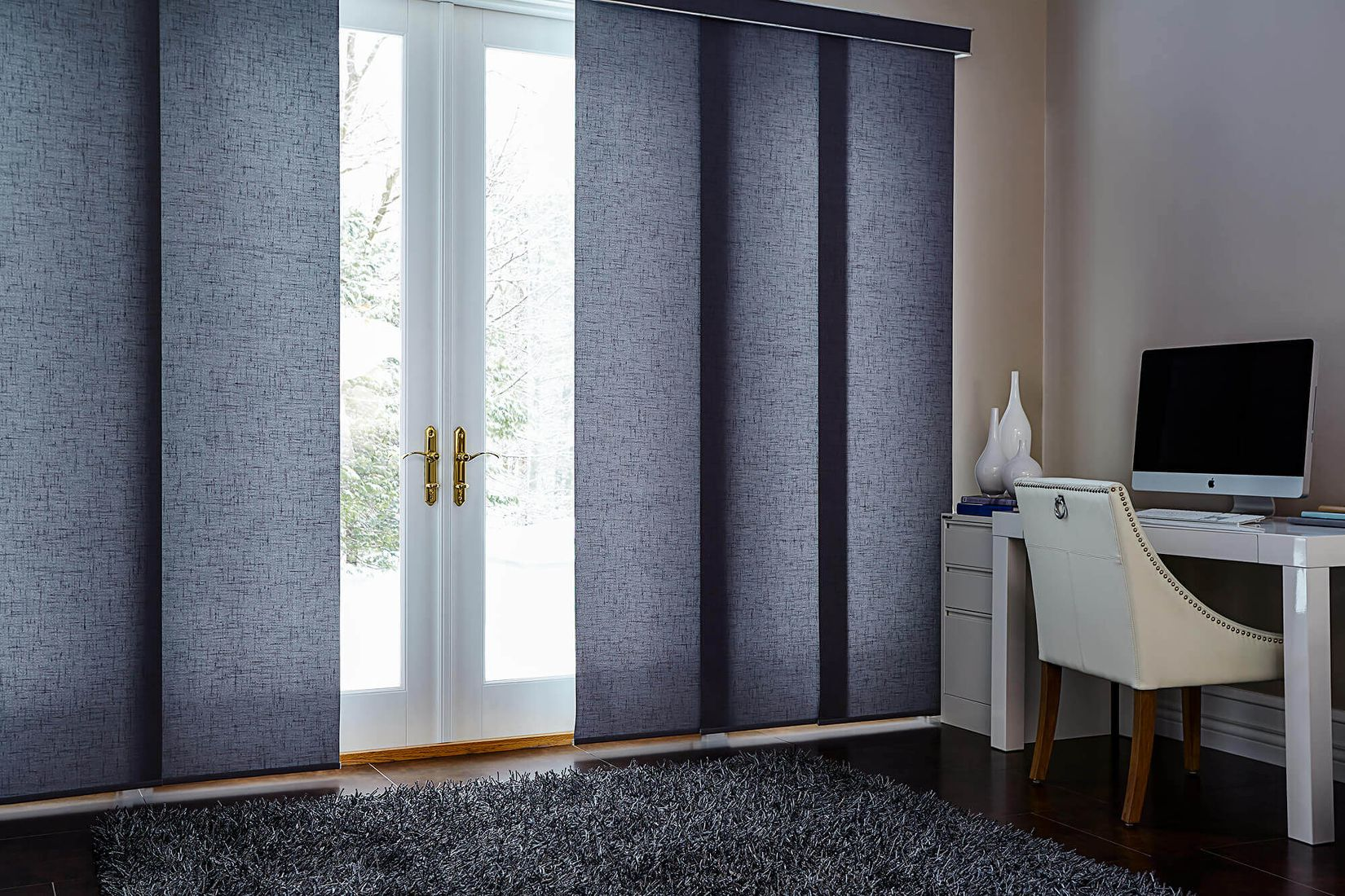 panel track blinds panel tracks are great for larger windows and patio doors, the fabric FZXPKWP