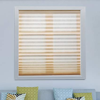 paper blinds acholo 3 pack beige cordless light filtering temporary pleated paper shades CWXYNFS