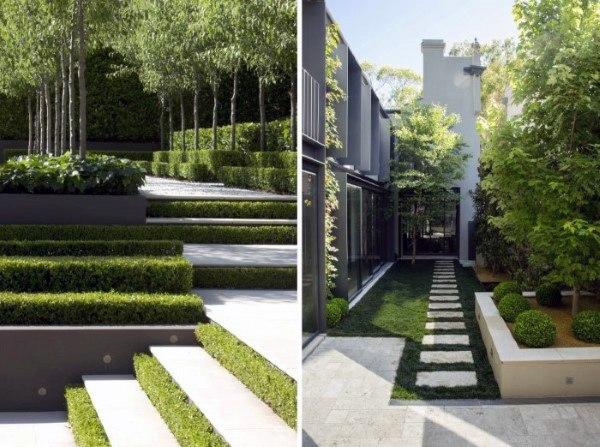 pathways modern landscape design FEOQBQD