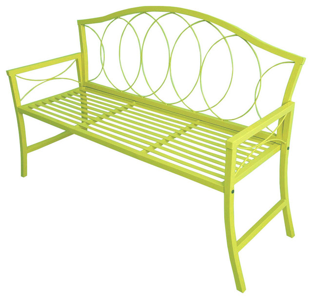 patio benches patio bench, lime green HXCYZOA