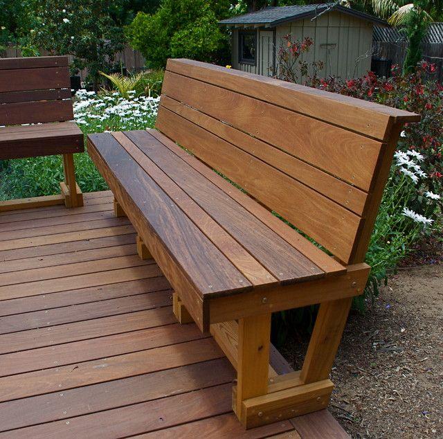 patio benches wood patio bench designs - 25 images SLGAFIJ