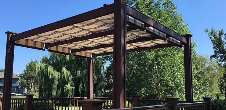 patio canopy retractable deck u0026 patio canopies POZNREU