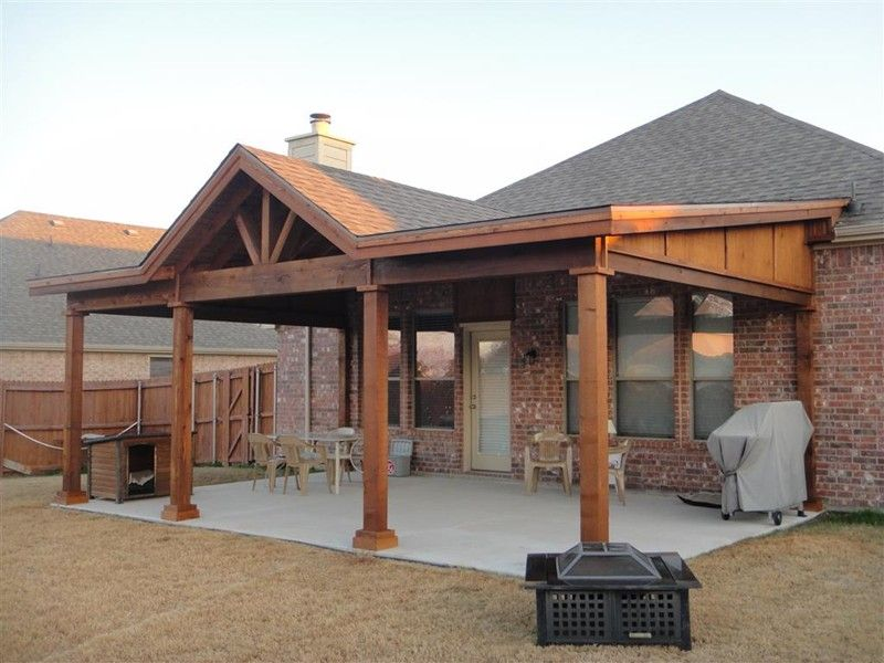 patio cover designs open gable patio designs | gable patio covers | full gable patio ABJOUGI