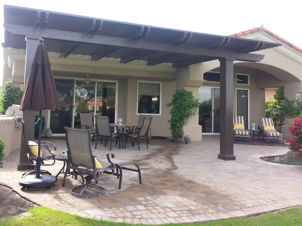 patio cover ideas solid patio cover, palm springs,