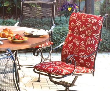 patio cushions high back chair cushions NSVCEAT