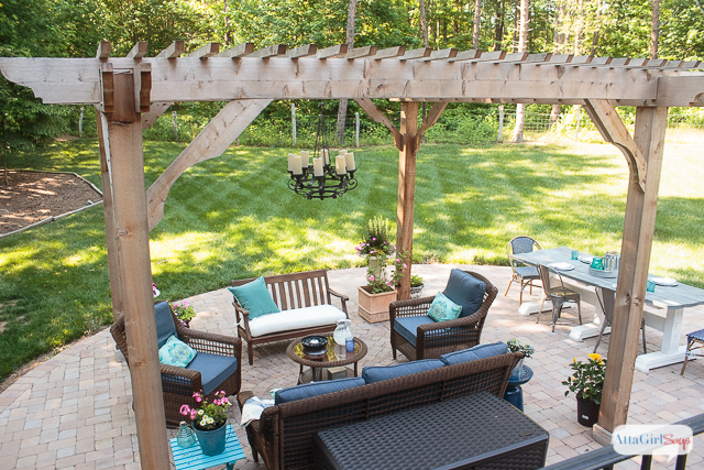 patio decorating ideas see how we transformed our boring back yard with the addition of BNRQGMV