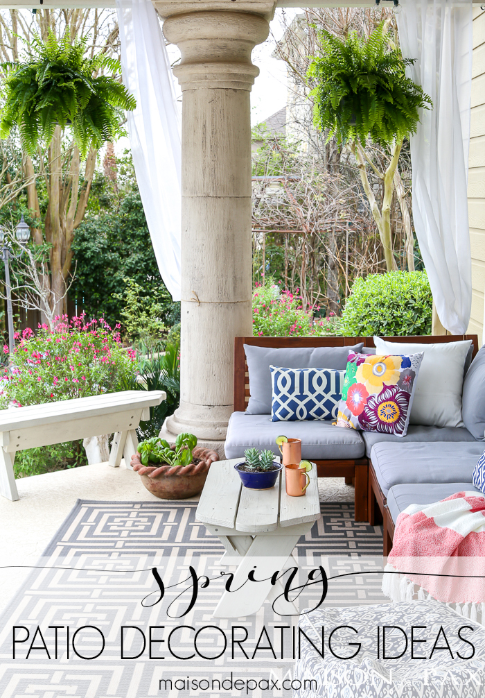 patio decorating ideas there is nothing quite as wonderful as soaking up the spring sunshine SQFHRRM