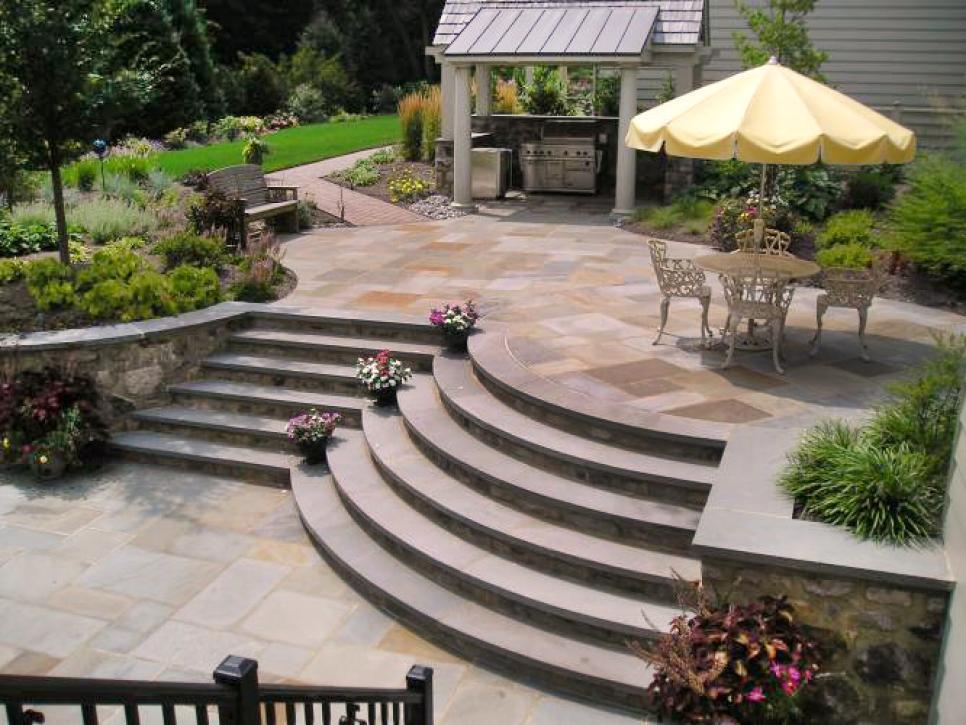 patio designs 9 patio design ideas | hgtv DQMOZNR