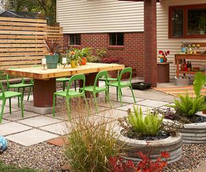 patio designs backyard patio transformation VQIJBNX