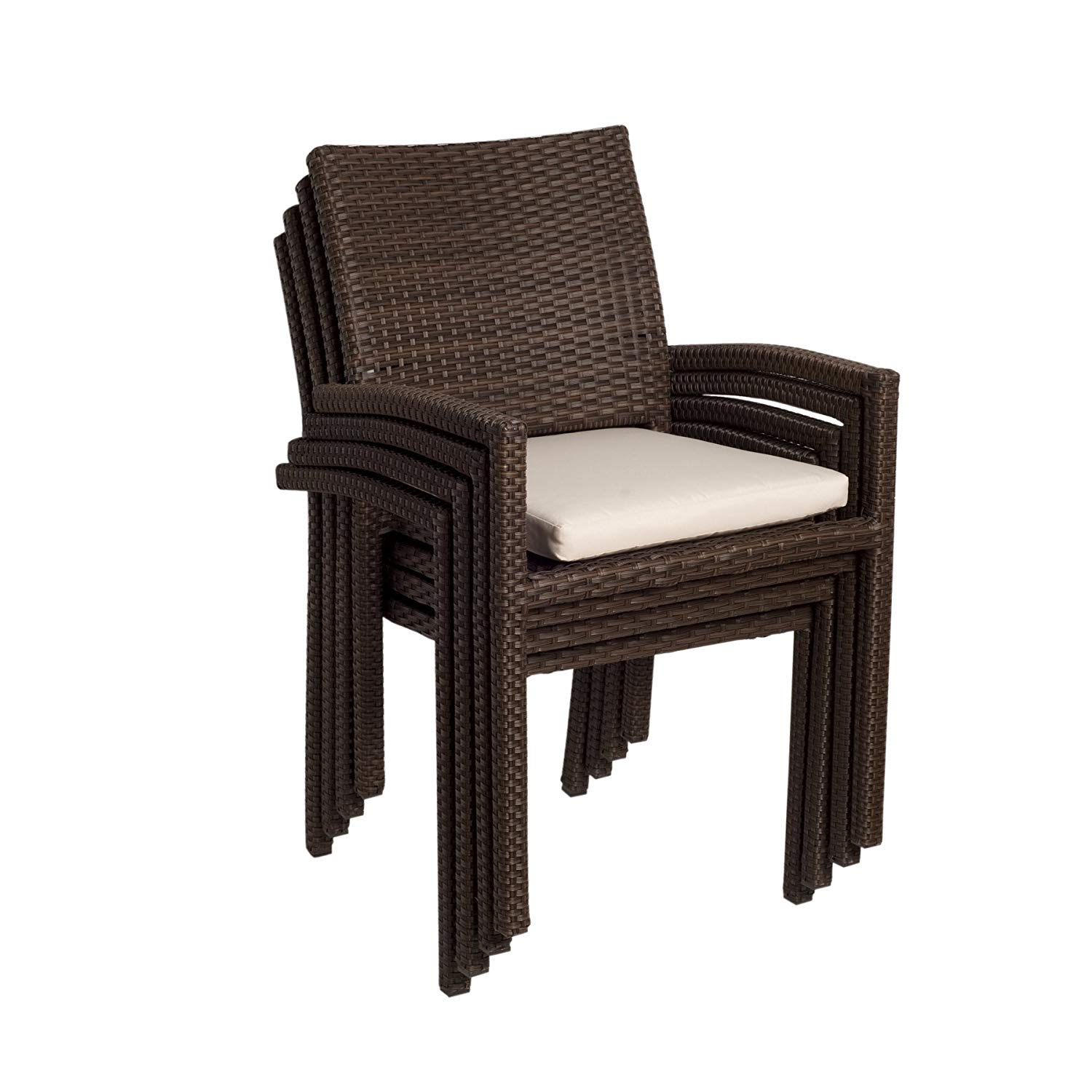 patio dining chairs amazon.com : atlantic liberty stackable armchairs, pack of 4 : patio dining WYBVEHV