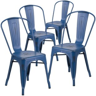 patio dining chairs dickens stacking patio dining chair (set of 4) PWUWXOR