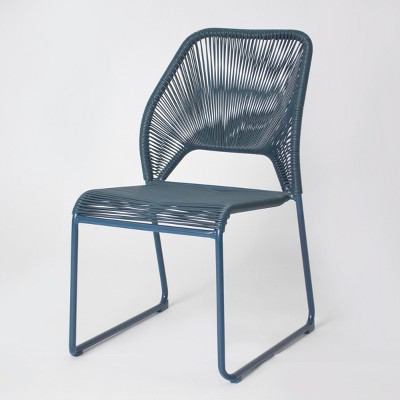patio dining chairs fisher patio dining chair - blue - project 62™ : target SDBYLRT