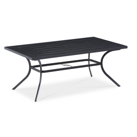 patio dining table display product reviews for kingsmead 40-in w x 70-in l rectangle steel MRTFWHO