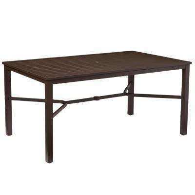 patio dining table mix and match rectangular metal outdoor dining table IDRKPCZ