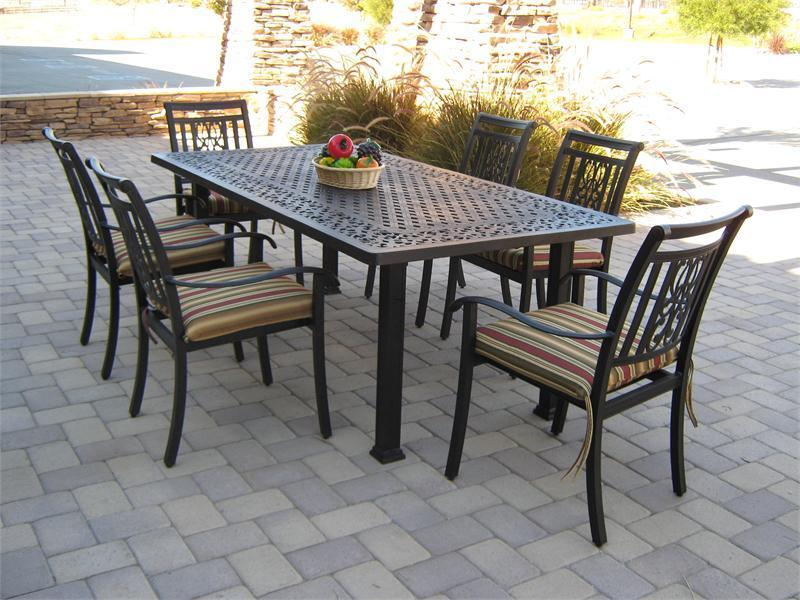 patio dining tables metal rectangular patio dining table SKUOHHU