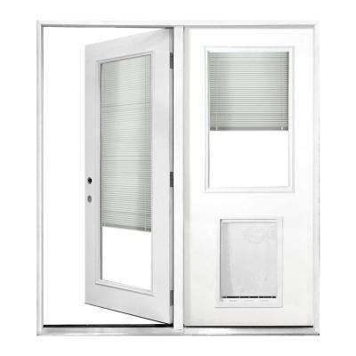 patio doors 60 in. x 80 in. mini-blind primed white prehung right-hand AYOAJIN