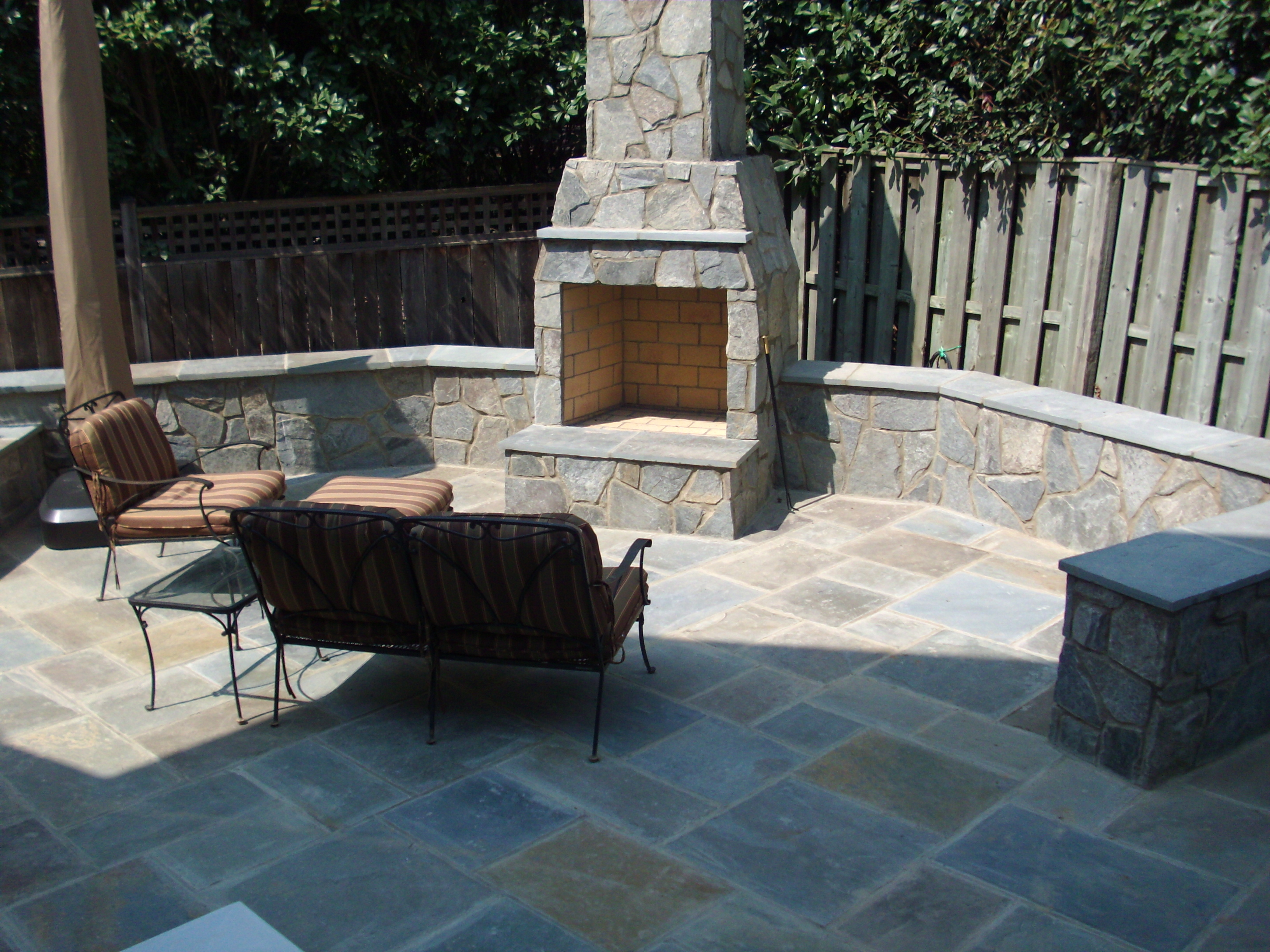 patio fireplace stone fireplace u0026 patio design | arlington, ... KAIOFTQ