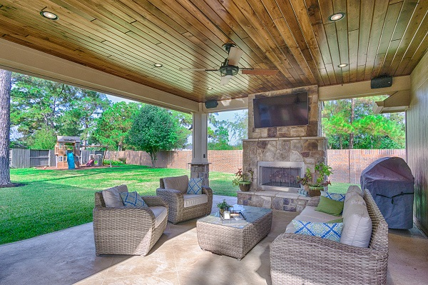 patio fireplace what more perfect time to also install a luxurious covered patio and YWCULWR