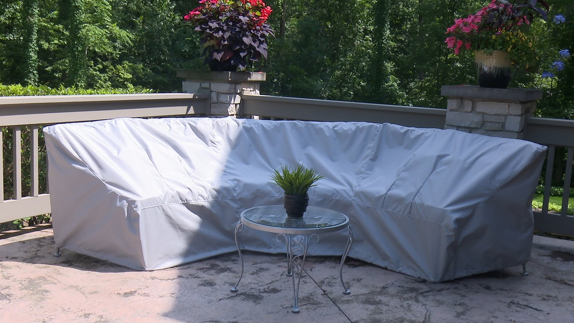 patio furniture covers how to make a cover for a curved patio set - sewing DPJORYJ