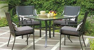 patio furniture sets amazon.com: gramercy home 5 piece patio dining table set: garden u0026 outdoor ZLTESJM