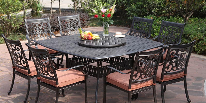 patio furniture sets cast aluminum patio furniture set