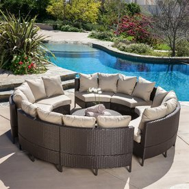 patio furniture sets display product reviews for newton 10-piece wicker frame patio conversation  set GACMYPB