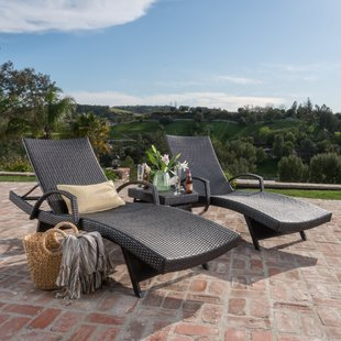 patio furniture sets peyton reclining chaise lounger set UBNYZYN